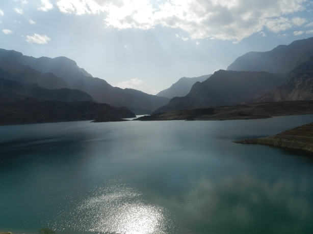 Wadi Dayqah Dam in Quriyat. An hour's drive from Muscat.