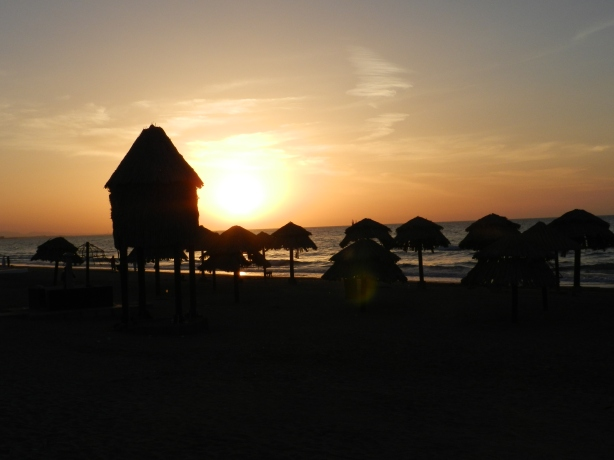 Sunset at Qurum beach