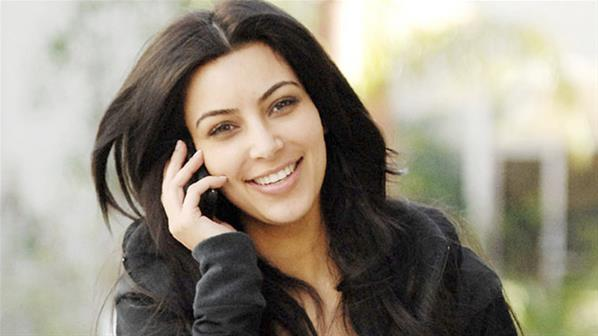 Kim without make-up