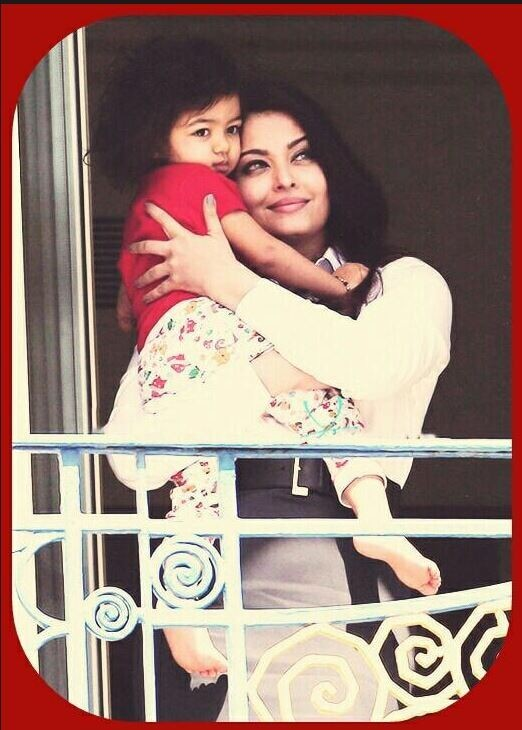 Aishwarya with daughter Aradhya at her hotel balcony in Cannes