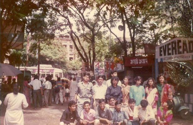 Our school group enjoying Durga Puja 1990 at Triangular Park, Kolkata (Pix taken from Arpita Mukherjee Mitra's FB albums)