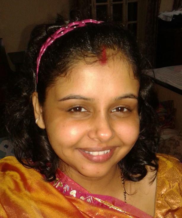 A Bengali bride before make-up
