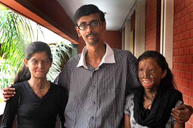 Photojournalist Anindya Chattopadhyay with Ritu and Chanchal.
