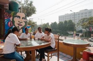 Sheroes Cafe in Agra opened recently is managed by acid-attack survivors. Pix from Al Jazeera.