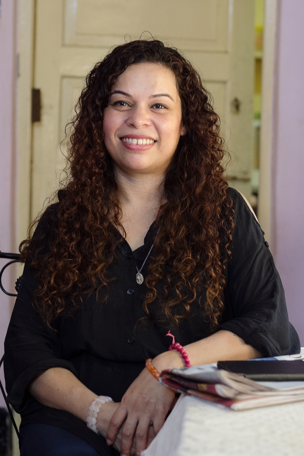 Behind this lovely smile is hidden a struggle that Suzette Jordan has to live every day. Pix: Diganta Gogoi