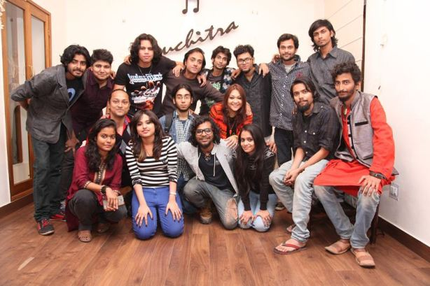 Jhelum and team Kolkata Music Diary at the launch