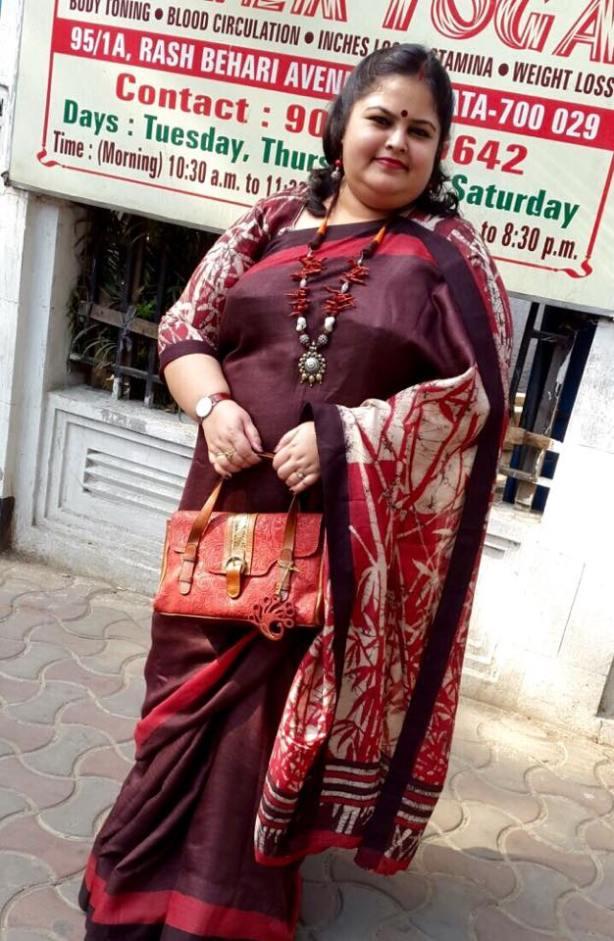 Batik on tussar from Angachaya by Nisupta Bhattacharya