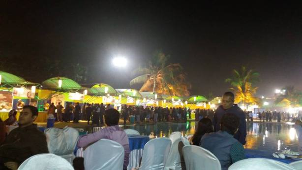 The food stalls decorated during the South Point re-union at Wet-O-Wild at Nicco Park