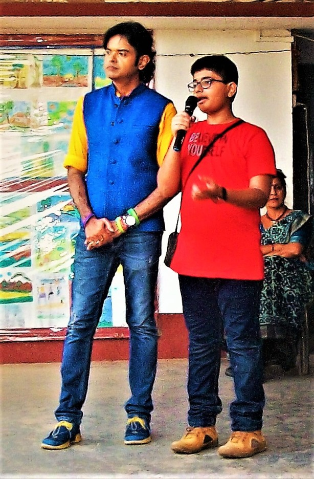 Ankit Seth with actor Bobby Chakraborty at an anti-addiction campaign called I am the King of My Mind